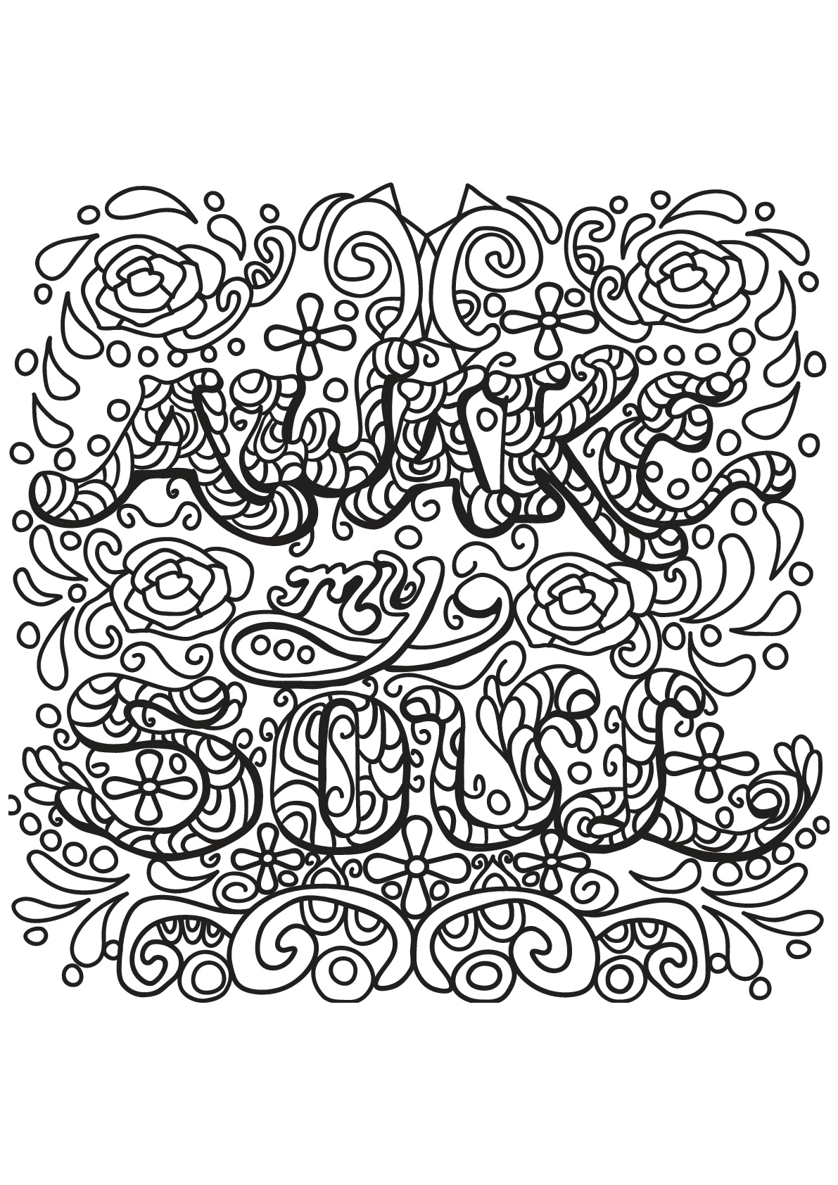 12 Inspiring Quote Coloring Pages For AdultsFree Printables Craft