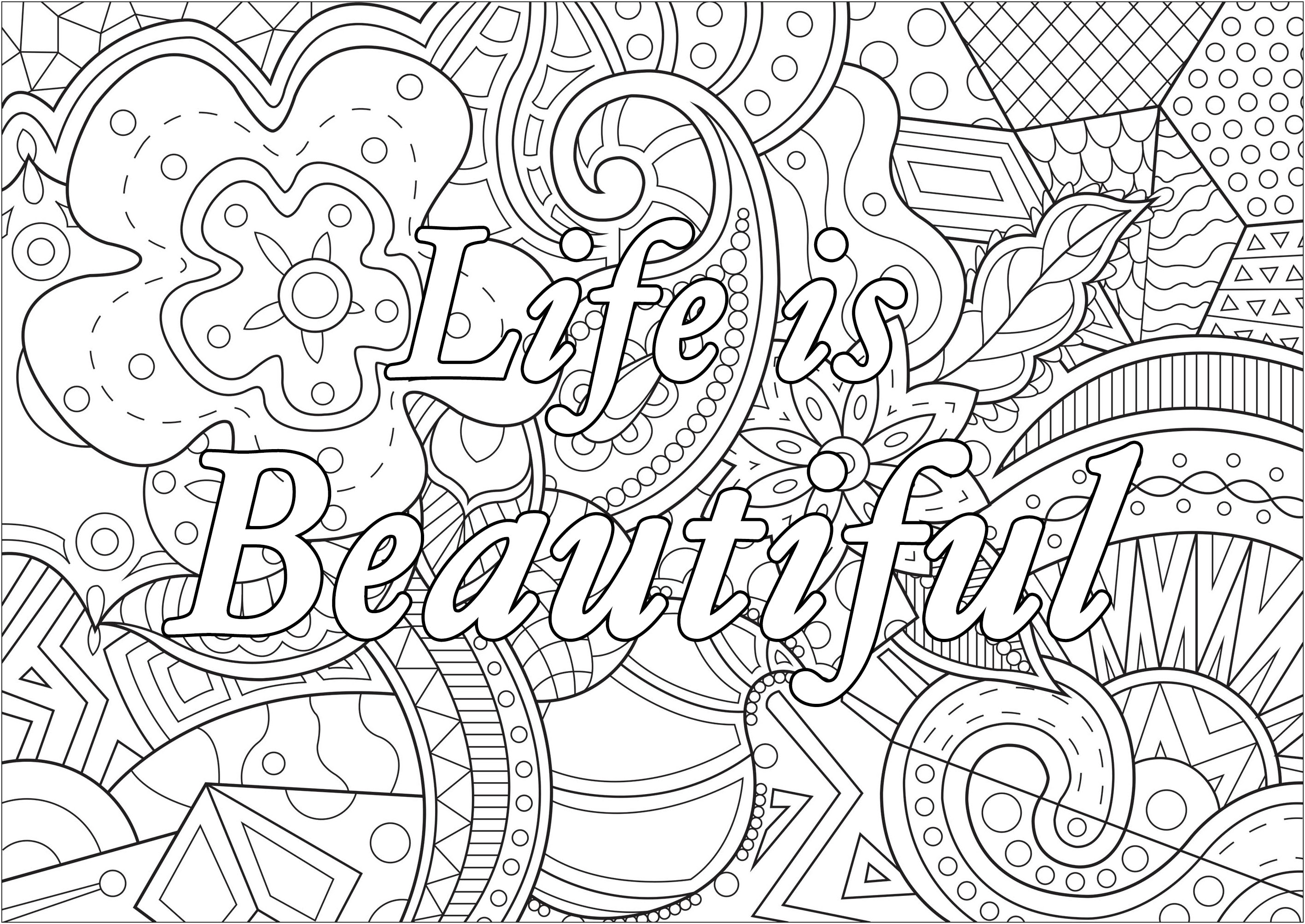 Life is Beautiful - Positive & inspiring quotes Adult ...