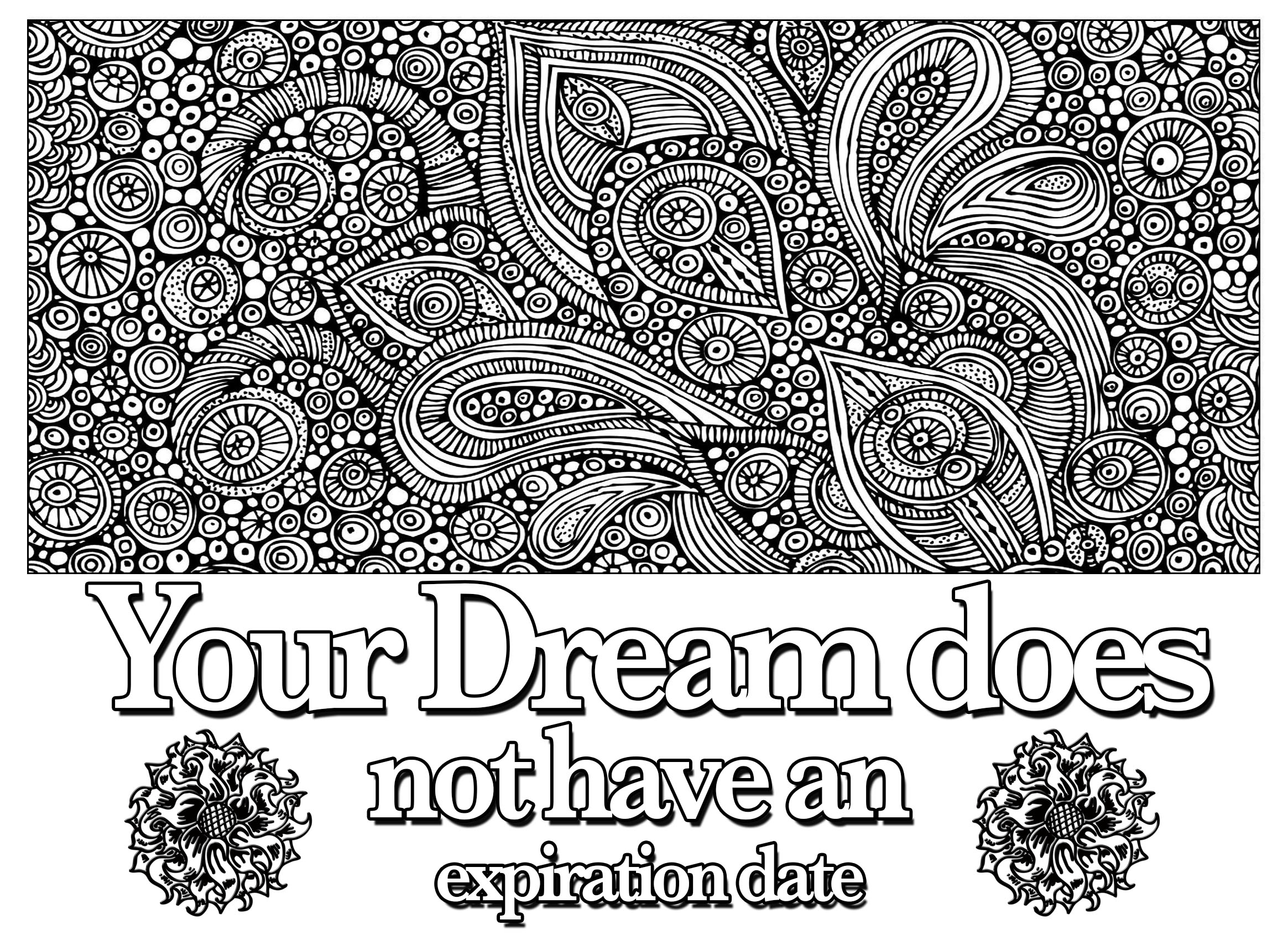 Coloring pages with quotes - Coloring Page Quote Your Dream Does Not Have