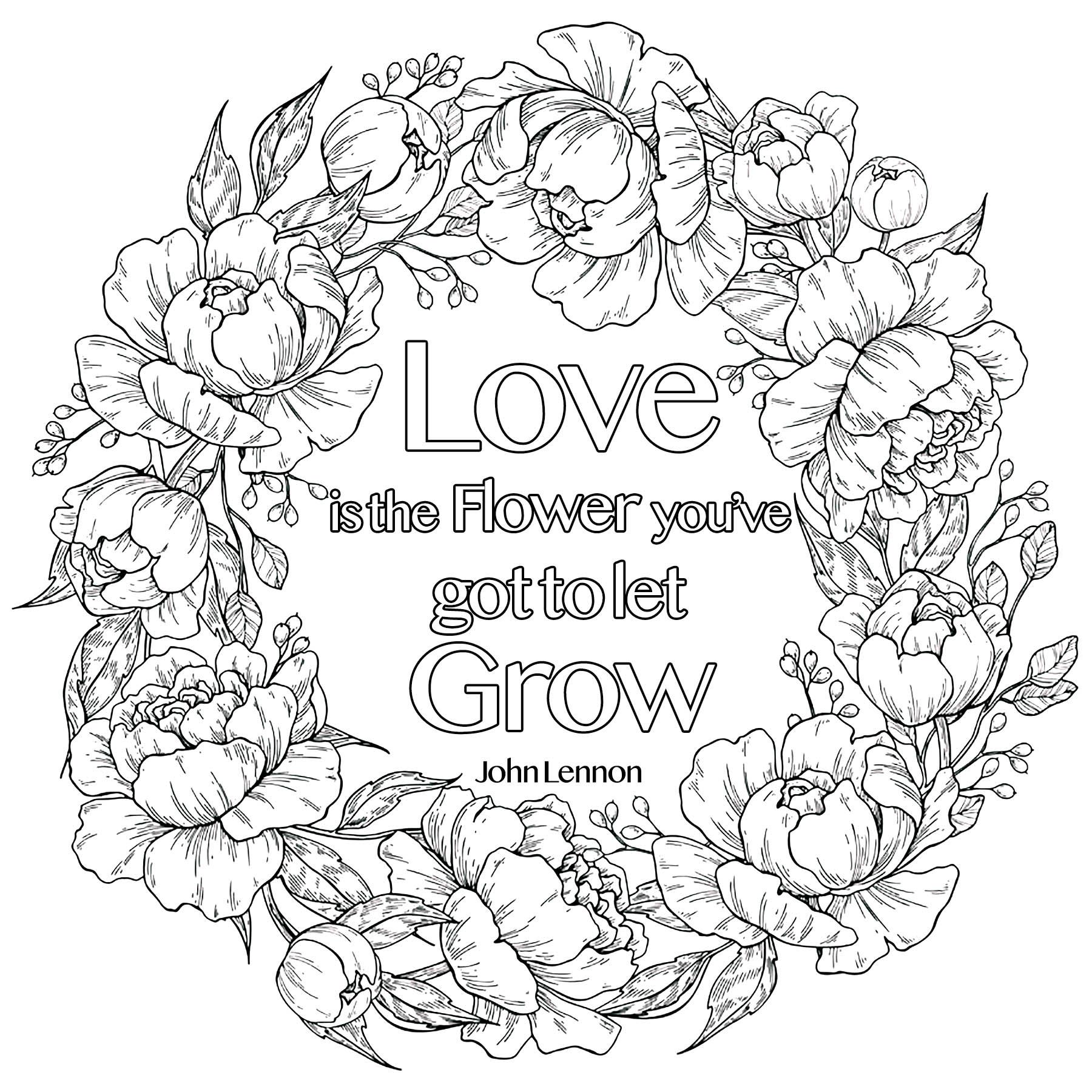 Love is the Flower you've got to let grow, John Lennon (in a flower crown)
