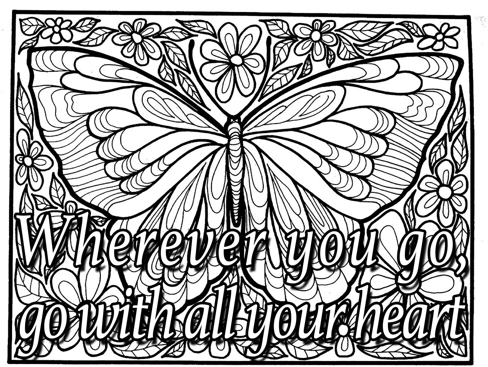 quote wherever you go quotes coloring pages coloring pages for