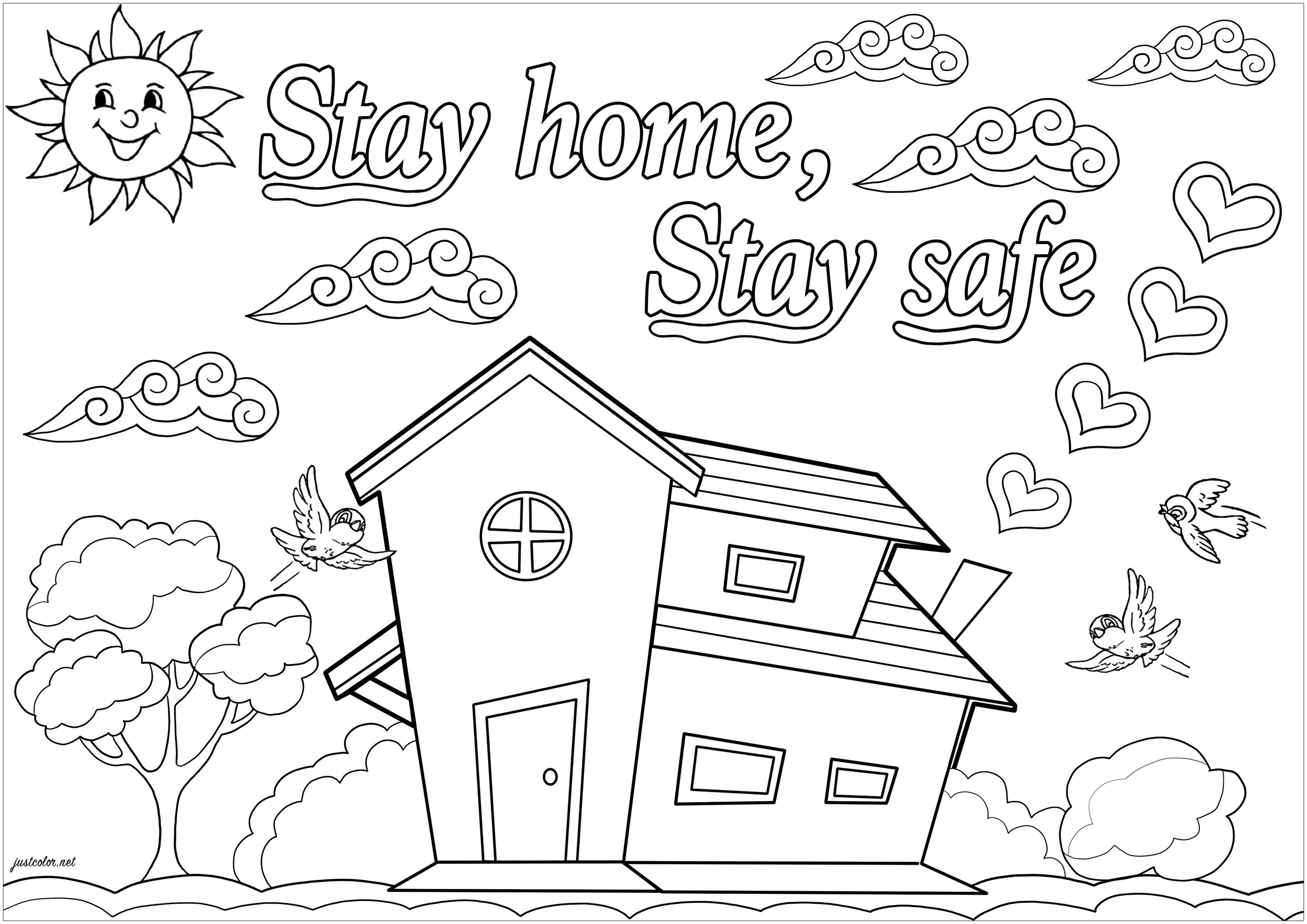Stay home, stay safe ! Together, fight against COVID-19