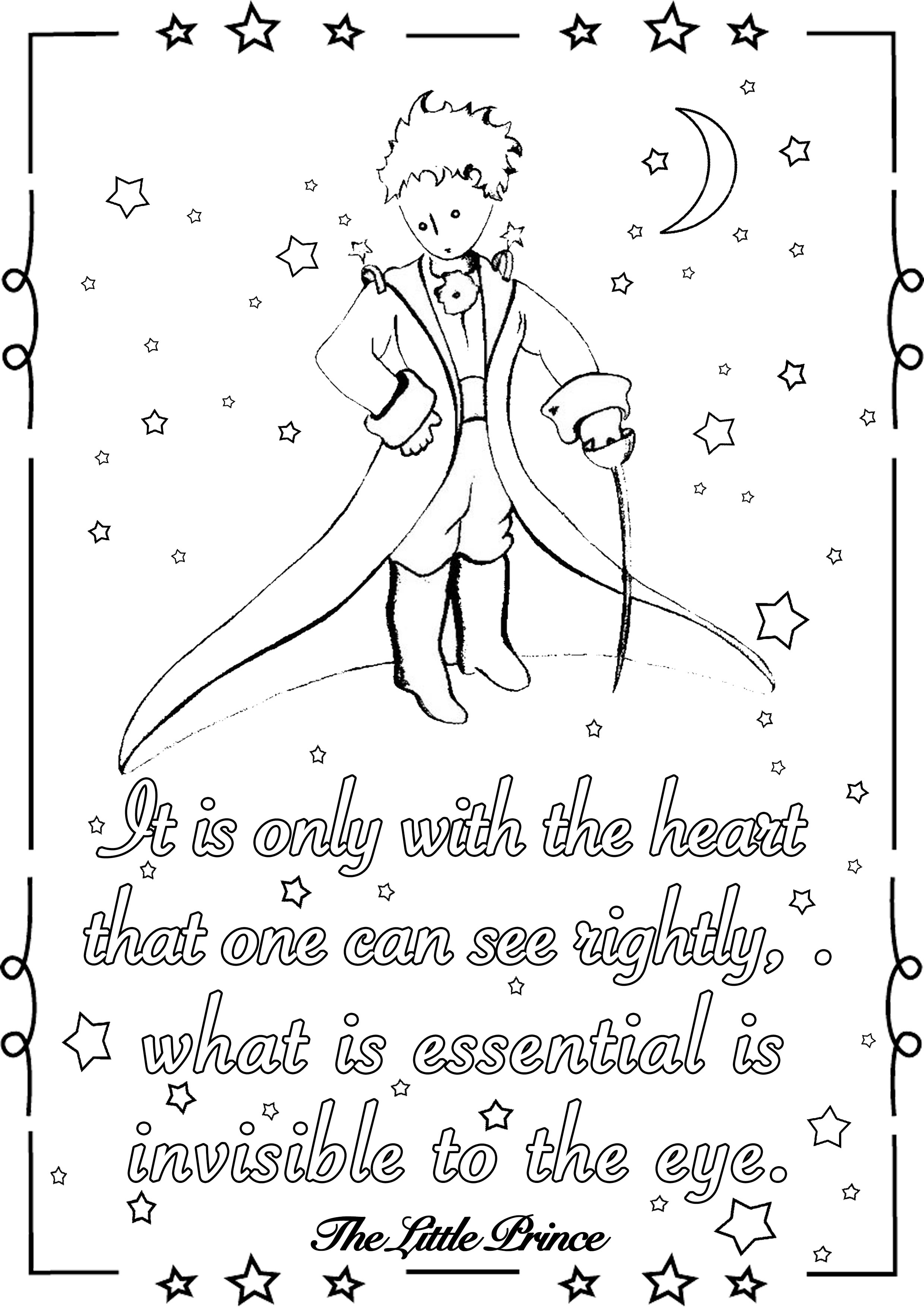 It is only in the heart that one can see rightly; what is essential is invisible to the eye. - The Little Prince (Antoine de Saint-Exupéry)