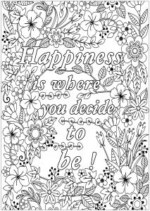 Happiness is where you decide to be