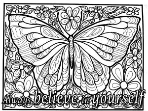 Coloring quote always believe in yourselft