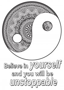 Coloring quote believe in yourself