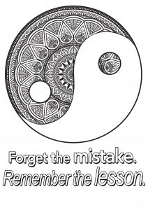 Coloring quote forget the mistake remember the lesson