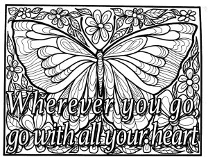 Coloring quote wherever you go