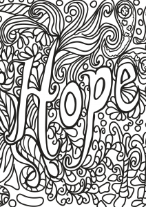 Coloring Free Book Quote 5 Hope