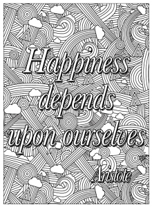 coloring-happiness-depends-upon-ourselves free to print