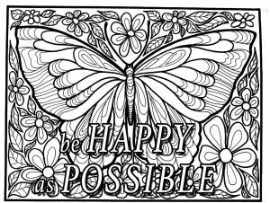 coloring quote be happy as possible