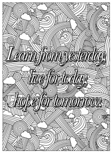 coloring-quote-learn-from-yesterday free to print