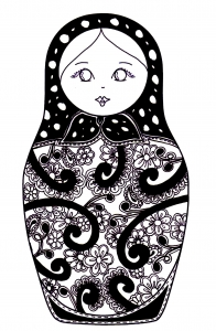Coloring russian dolls 10
