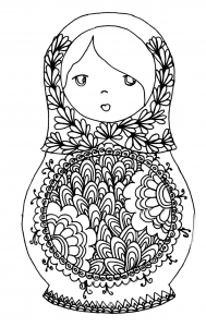 coloring russian dolls 7