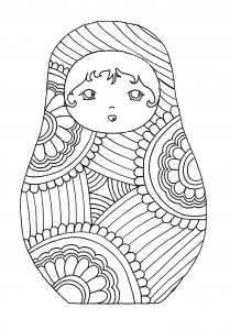 Coloring russian dolls 9