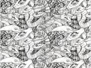 Snakes Coloring Pages for Adults