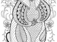 Squirrels and other rodents Coloring Pages for Adults