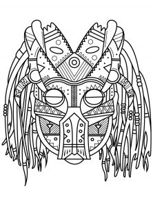 Coloring street art mix africa aztec