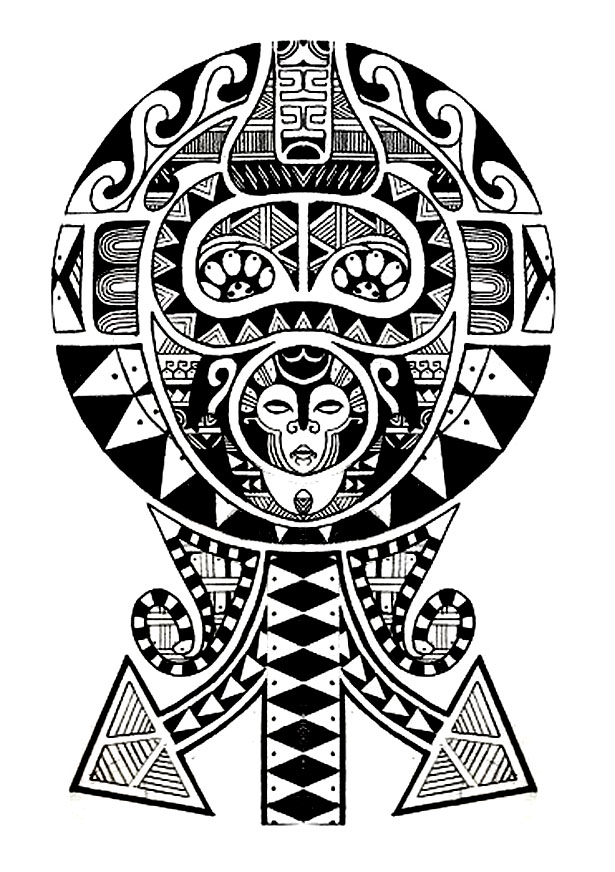 Polynesian tattoo Tattoos Adult Coloring Pages