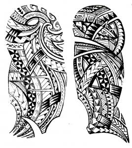 Coloring tattoo maori