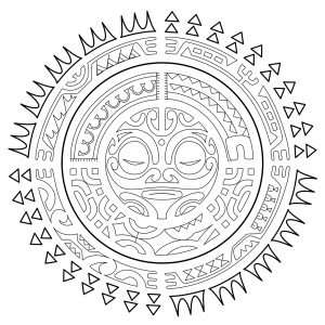 Polynesian Tattoo : The sun