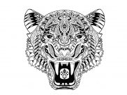Tigers Coloring Pages for Adults