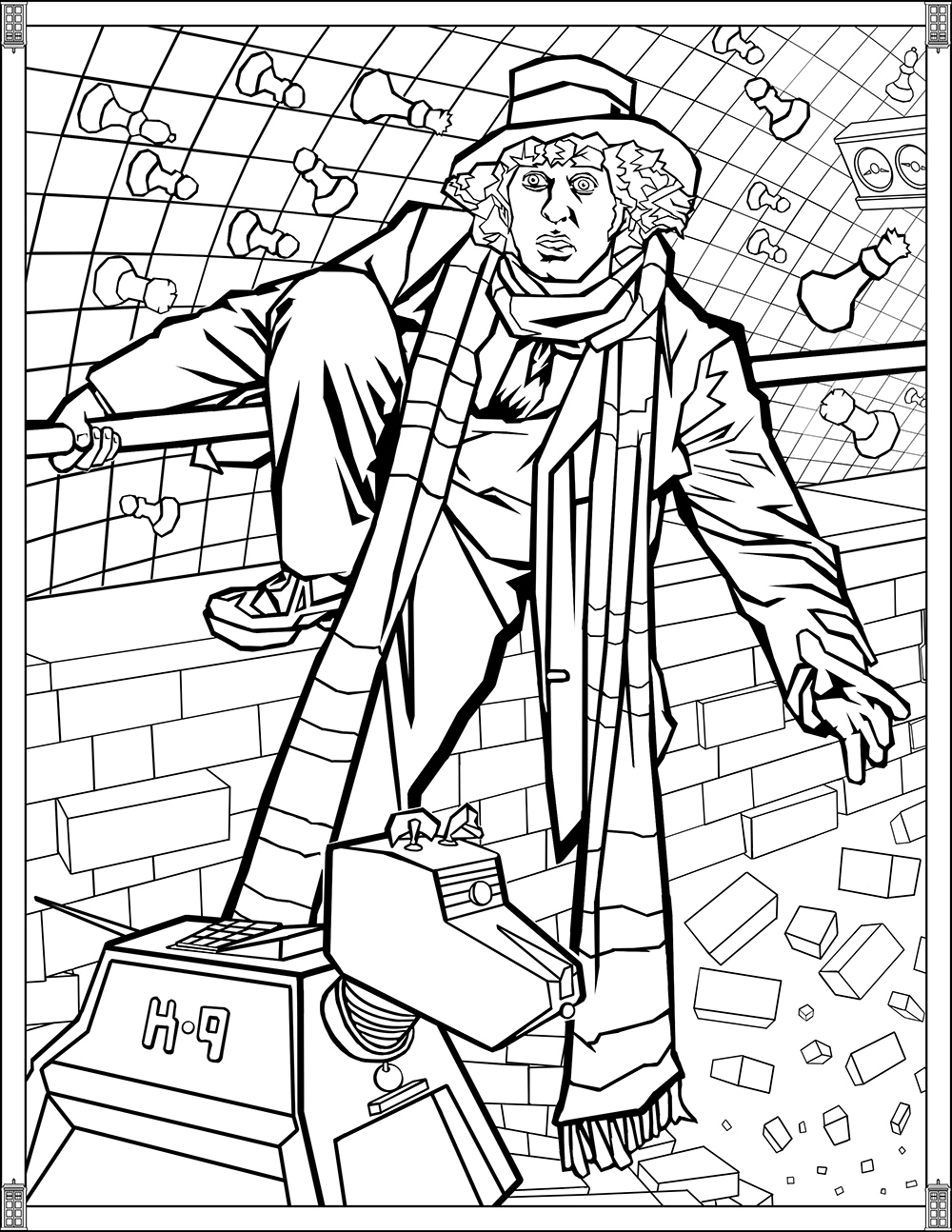 Doctor Who Pages Fourth Doctor - TV shows Adult Coloring Pages