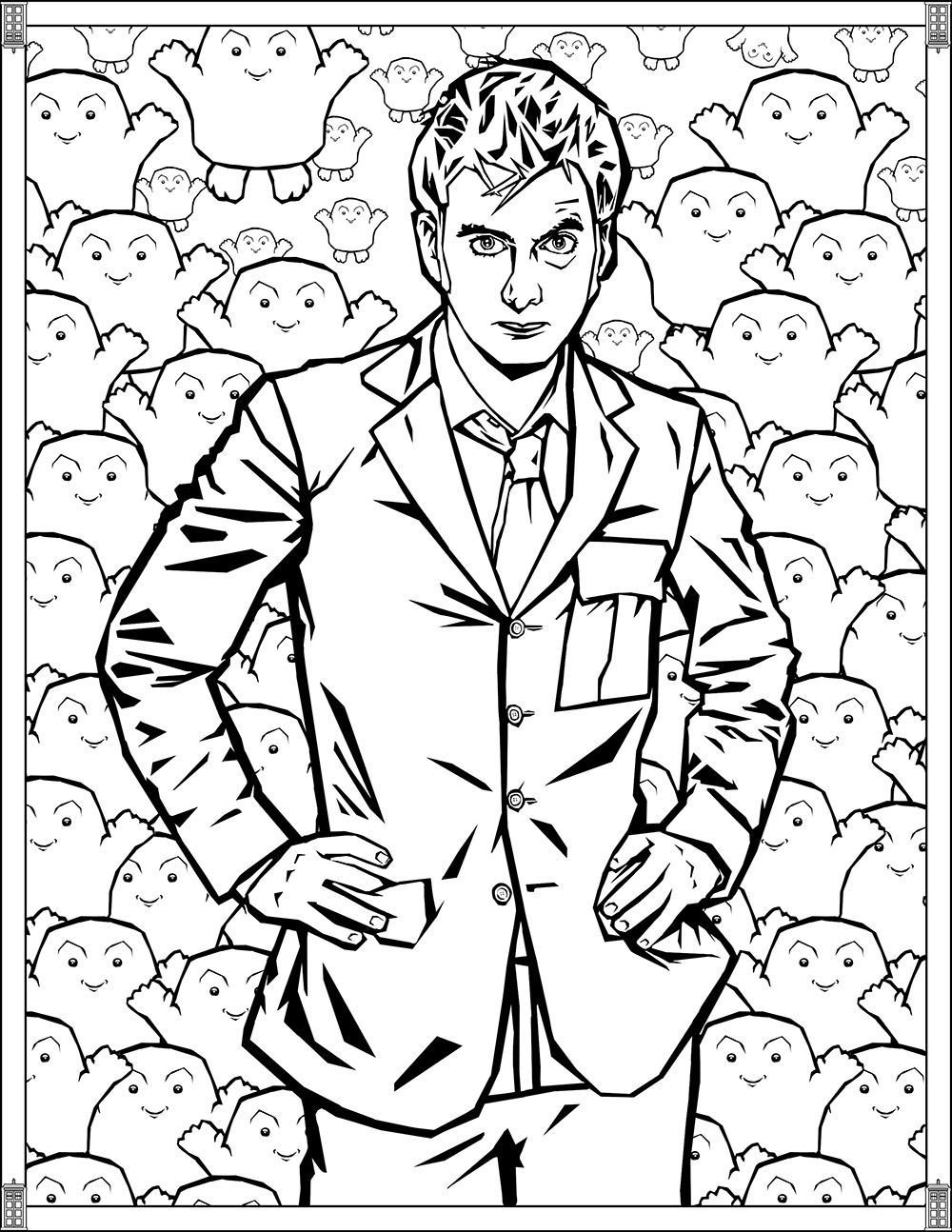 Who Coloring Pages Tenth Doctor The Tenth Doctor David Tennant Crayons Y Artist