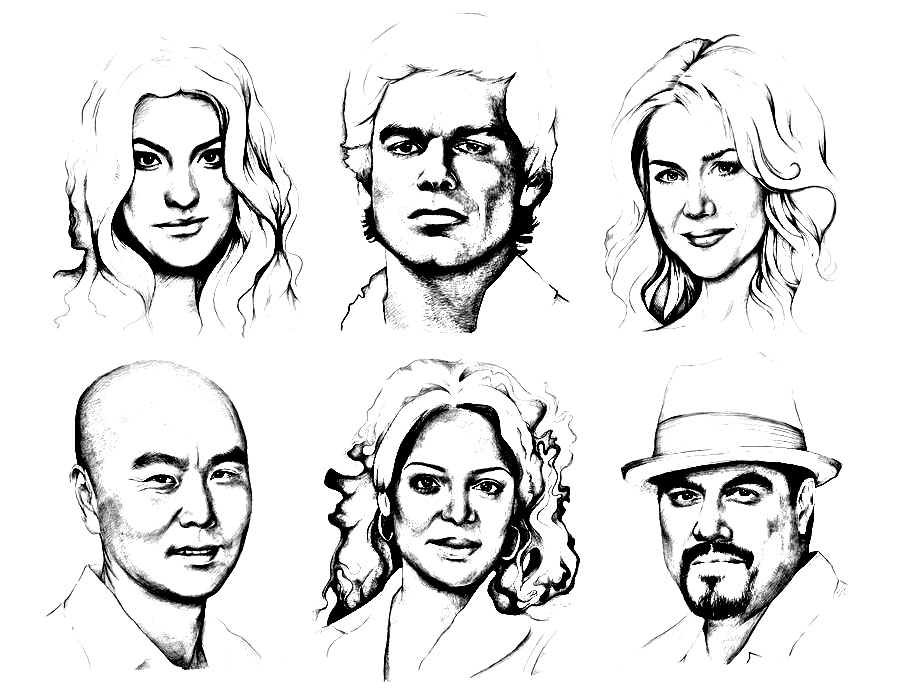 Dexter TV serie main characters