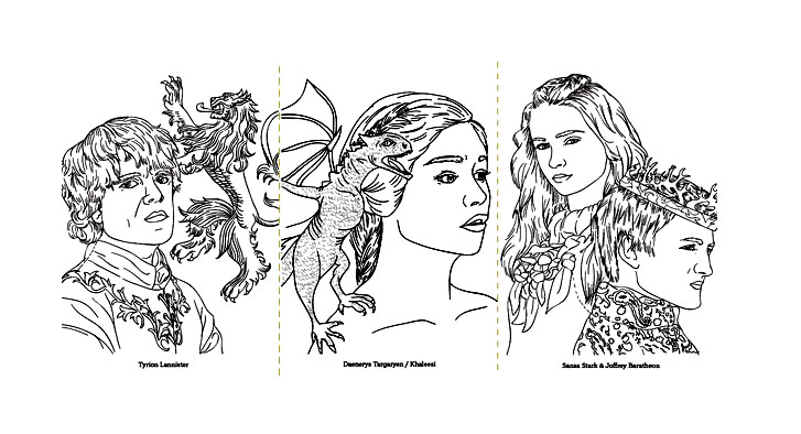 Game of Thrones : Characters drawings