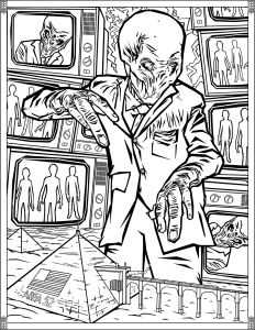 Doctor Who Coloring Pages Silence