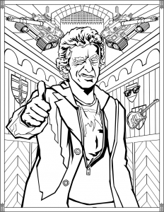 Doctor Who Coloring Pages Twelfth Doctor