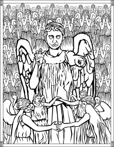 Doctor Who Coloring Pages Weeping Angels