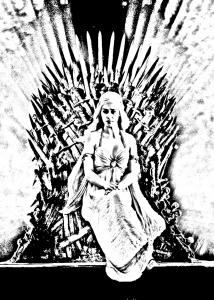 coloring-adult-game-of-throne-daenerys_targarya free to print