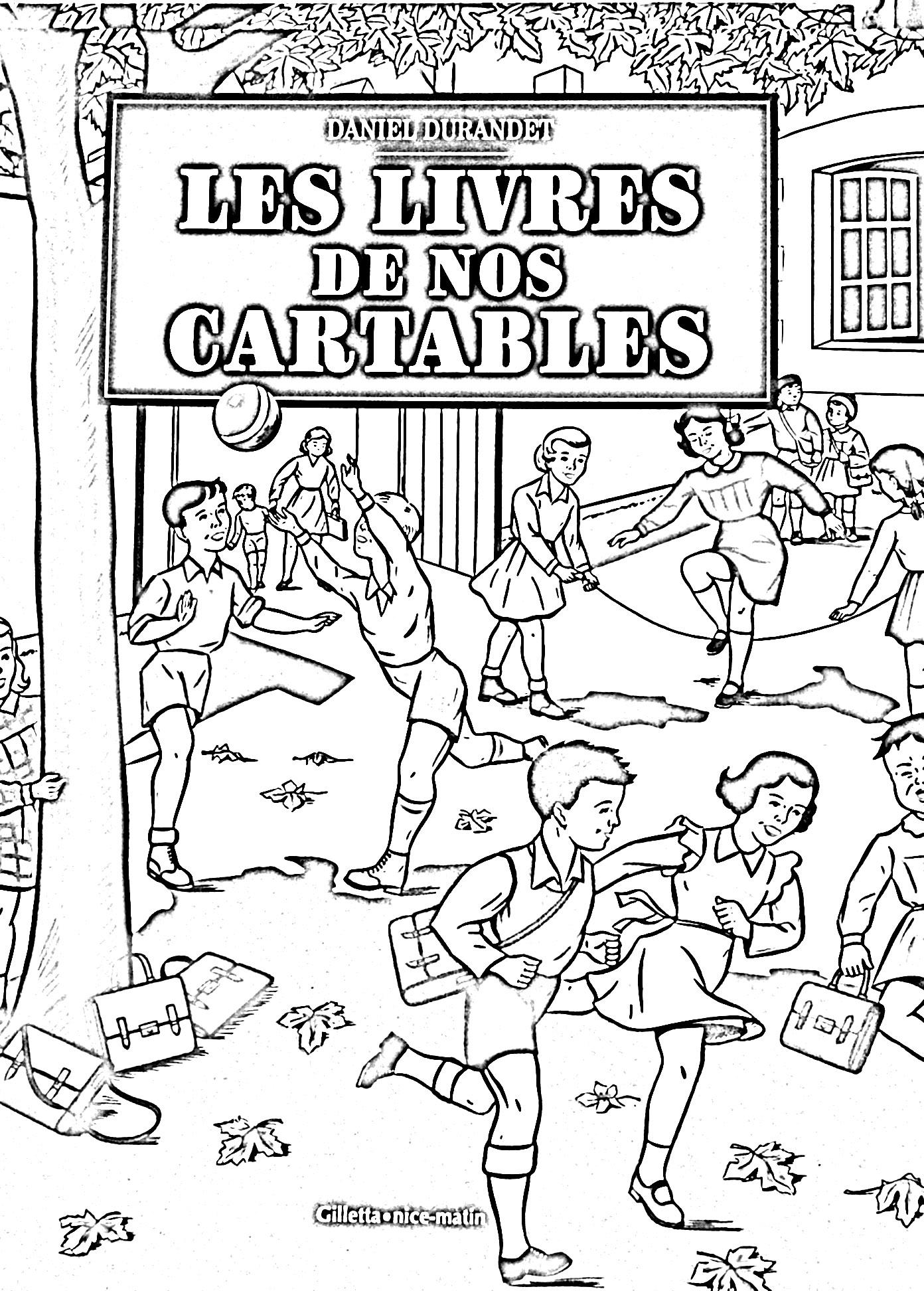 Front page of 'Les livres de nos cartables' written by Daniel Durandet