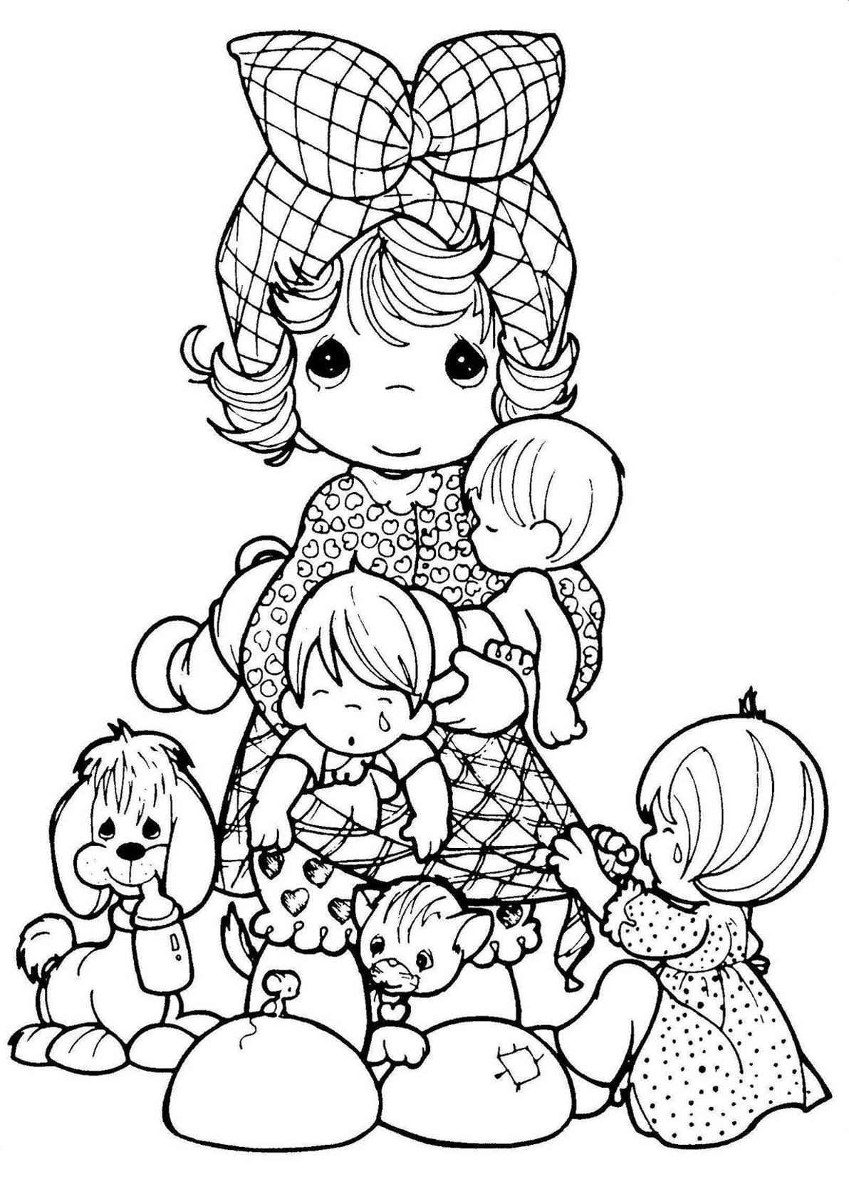 Precious Moments Vintage Adult Coloring Pages