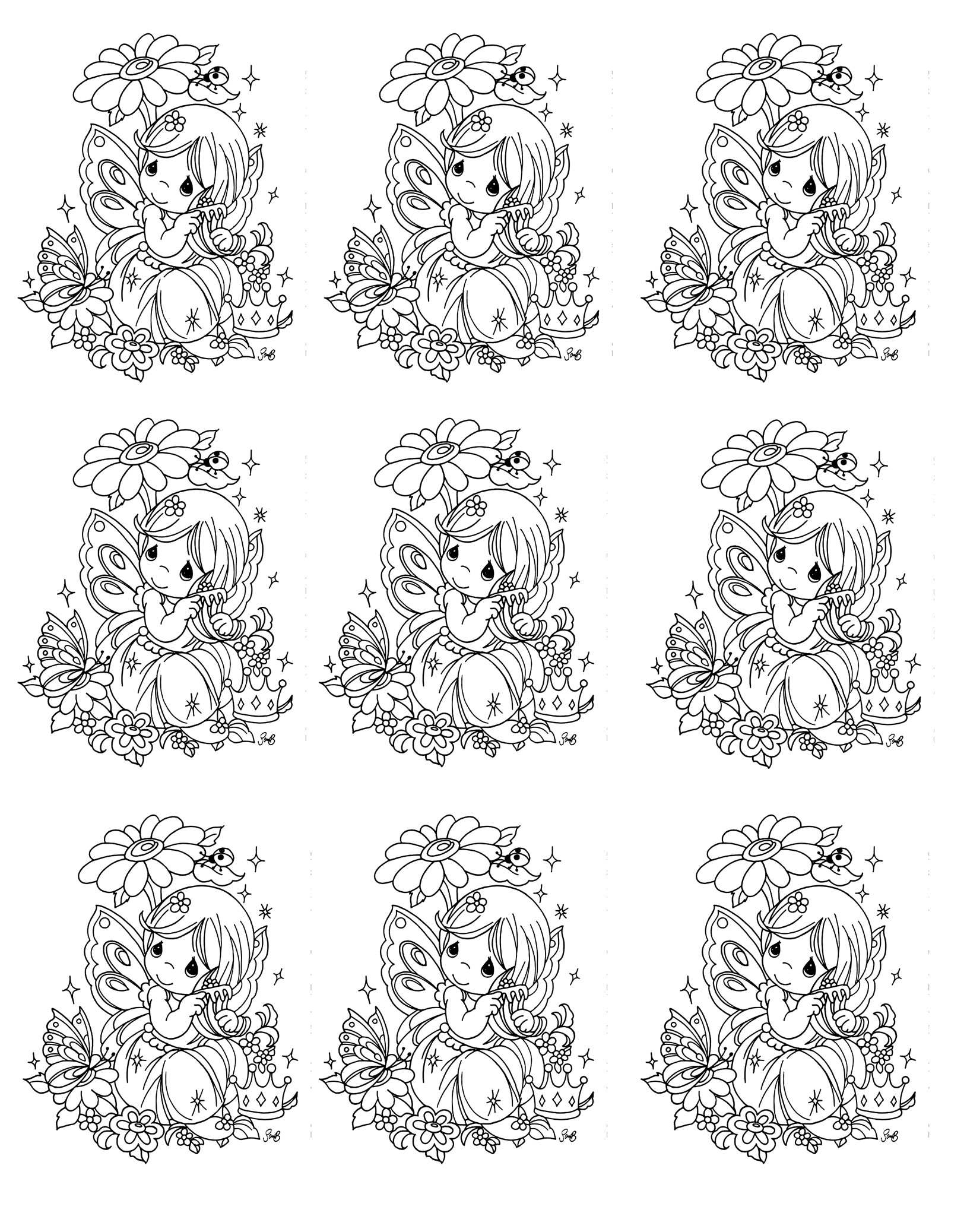Free Printable Precious Moments Coloring Pages For Kids | 2075x1629