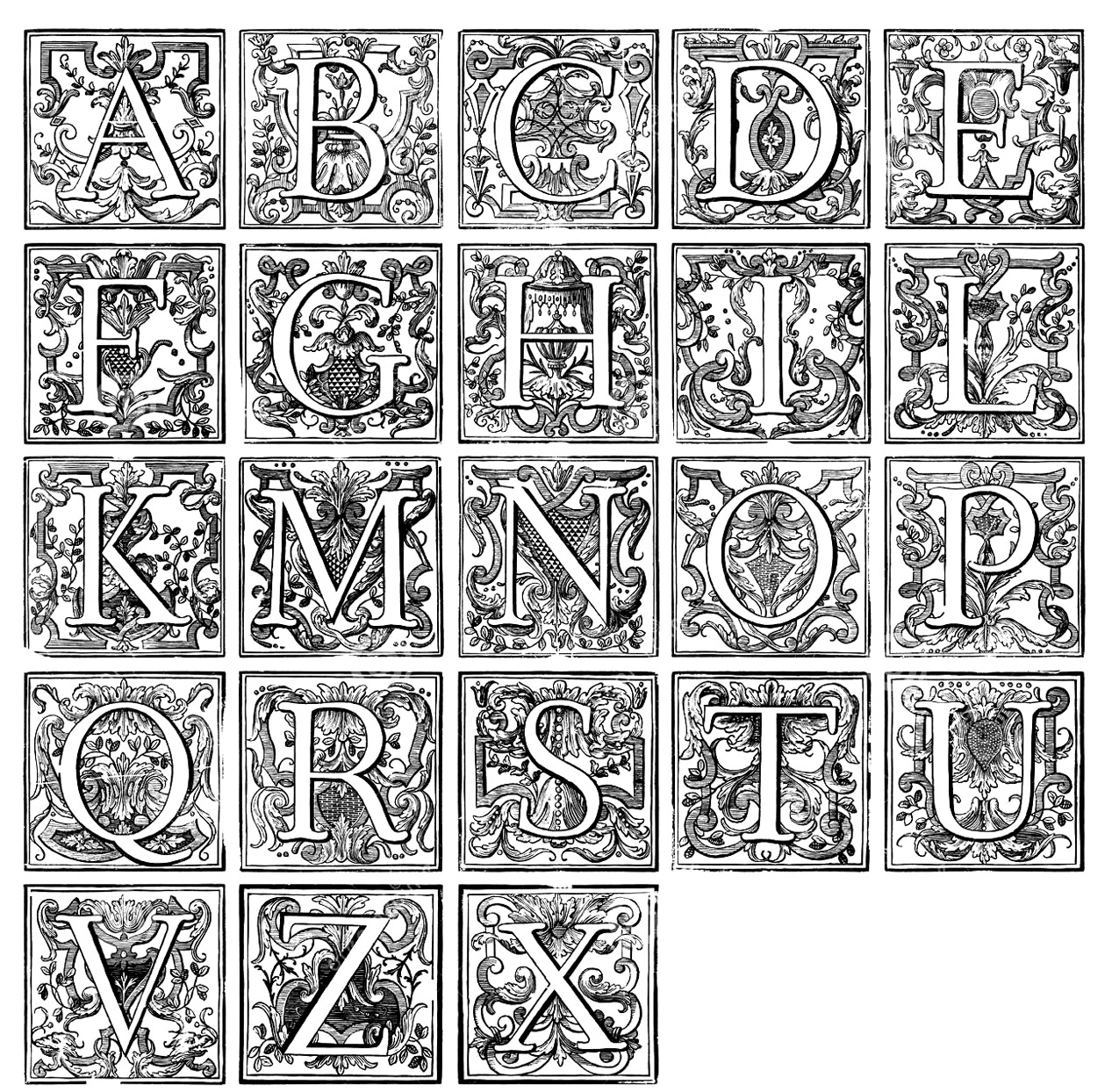 vintage alphabet from the gallery vintage