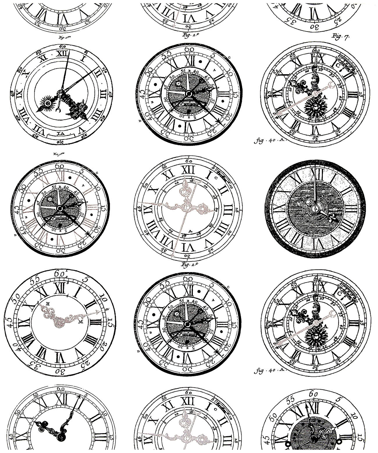 Various styles of watches dating from the 19th and 20th century