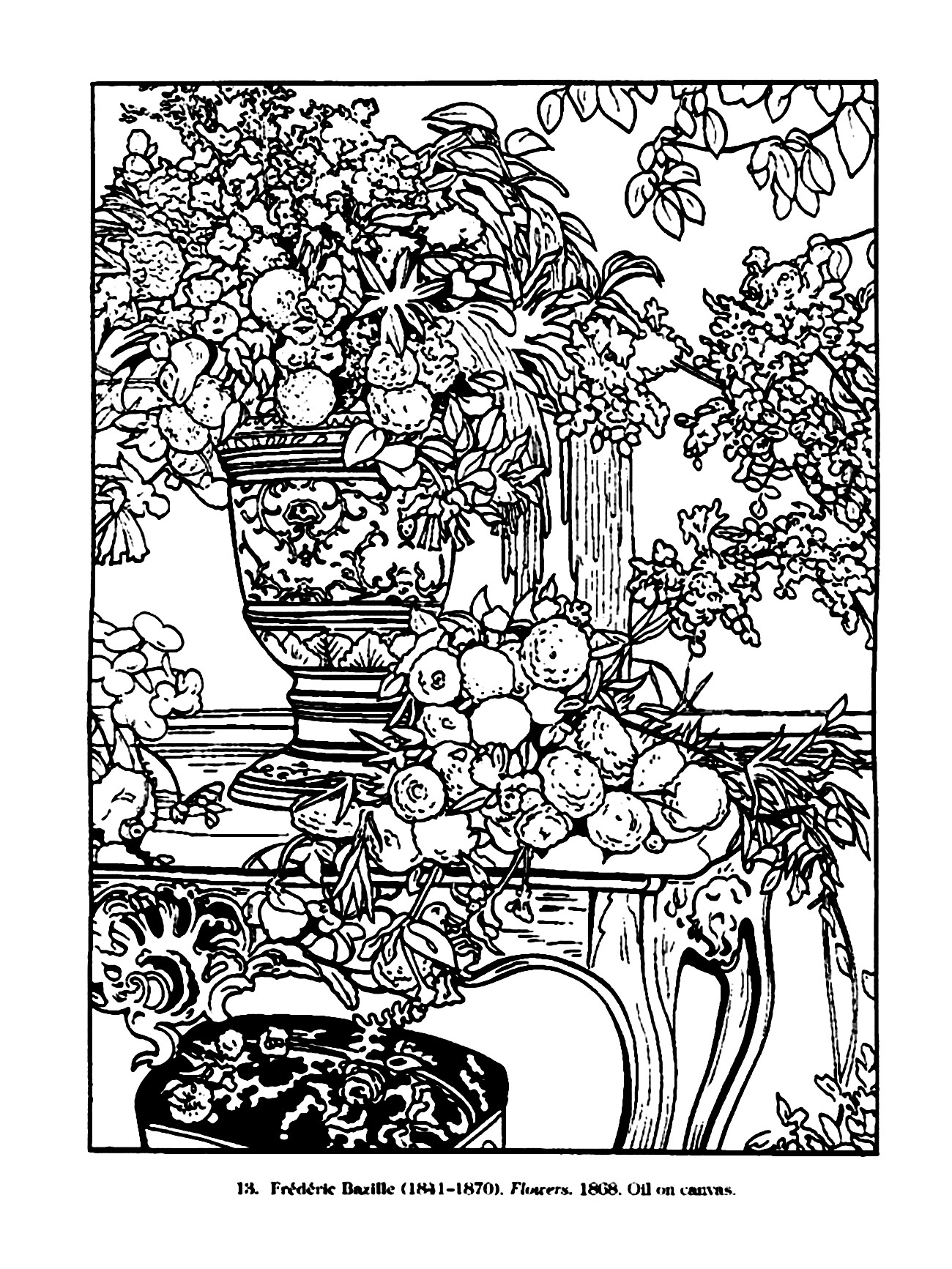 Vintage drawing vintage adult coloring pages for Retro coloring pages