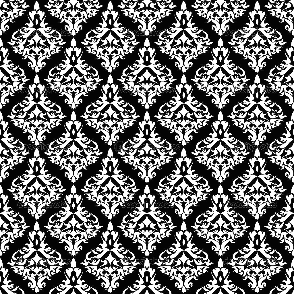 Vintage damask wallpaper , vector seamless pattern