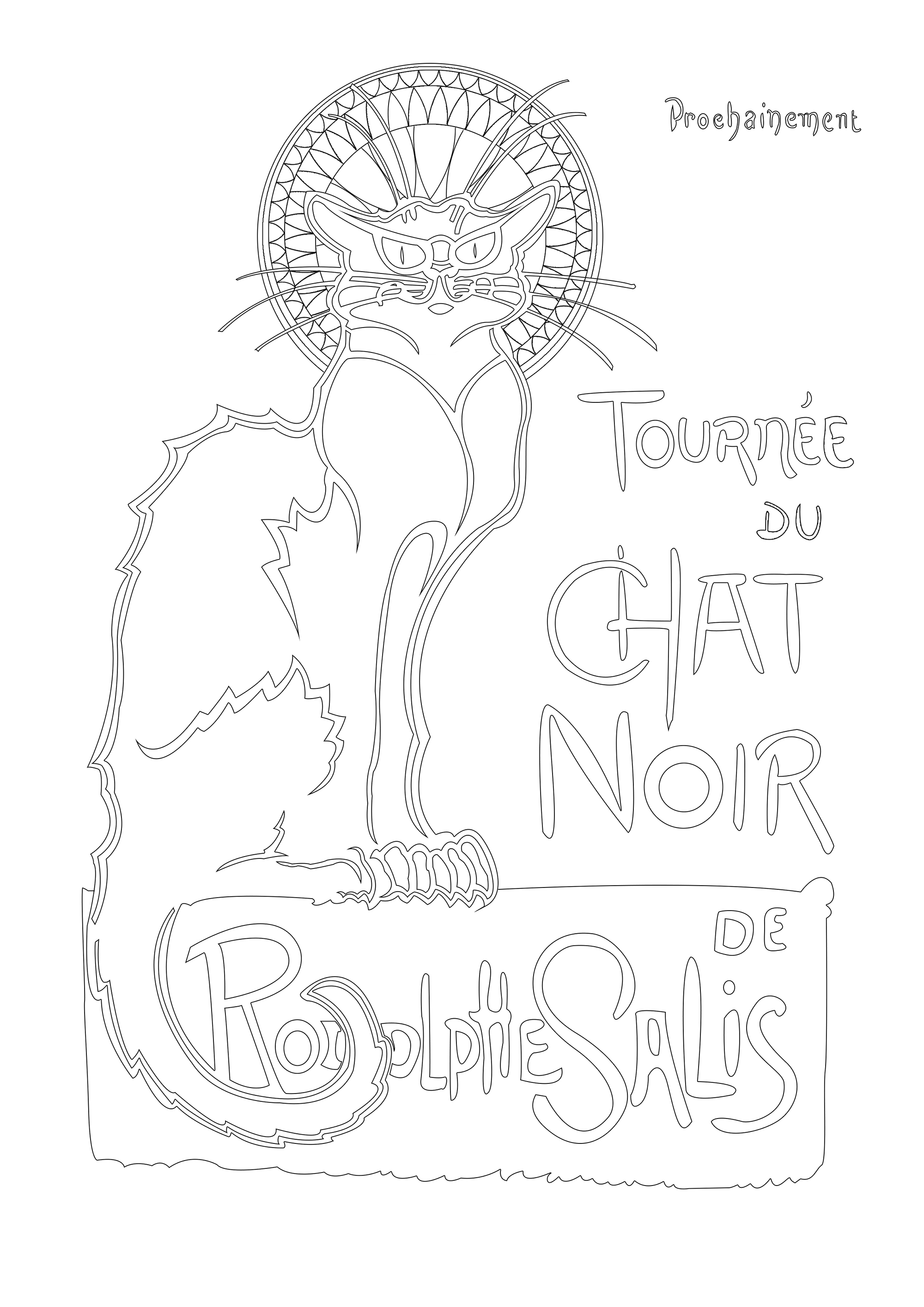 Best known now by its iconic Théophile Steinlen poster art, Le Chat Noir was a nineteenth-century entertainment establishment, in the bohemian Montmartre district of Paris. It was opened on 18 November 1881 at 84 Boulevard de Rochechouart by the impresario Rodolphe Salis, and closed in 1897 not long after Salis' death.