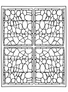 coloring-adult-stained-glass-chapelle-prieure-de-bethleem-nimes-version-3 free to print