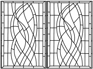 coloring page art deco stained glass madrid 2