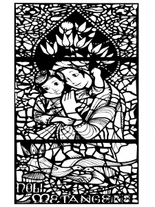 coloring stained glass noli me tangere