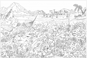 coloring-adult-complex-sea-floor free to print