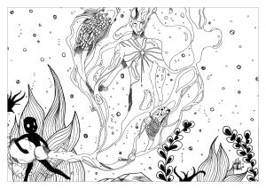 Coloring aquarius by valentin