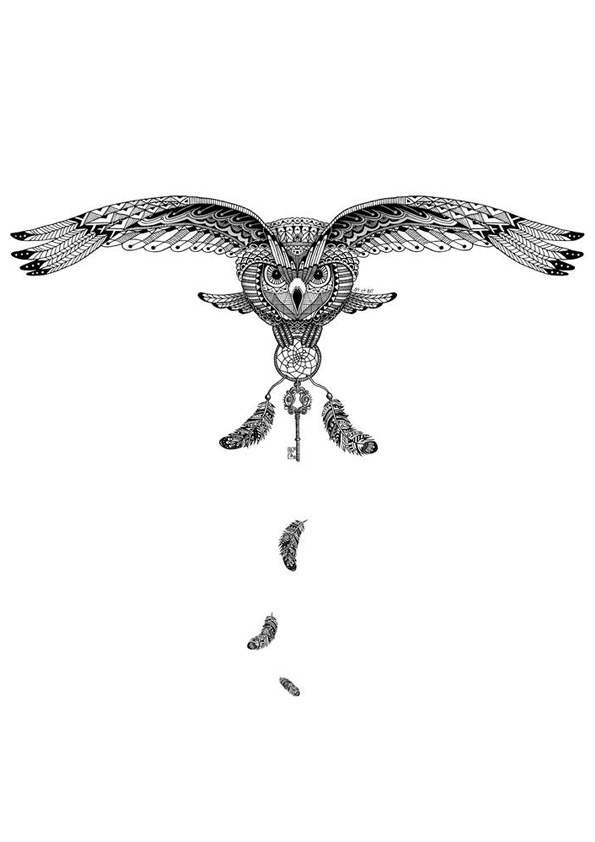 This Owl Give You The Key Of Its Coloring Page Artist ArtBe