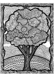 Zentangle Coloring Pages For Adults