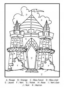 Coloriage Magique De Chateau Coloriages Pour Enfants